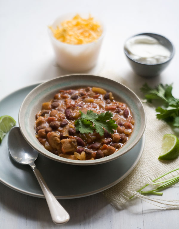 Chipotle Chicken Chili | www.acozykitchen.com