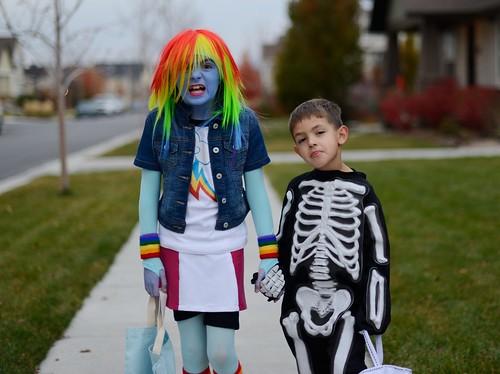 Rainbow Dash and Skeleton Boy