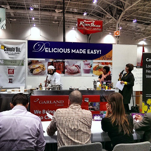 For the love of food stage at #RAWF @tastecanada #CooksTheBooks @therawf