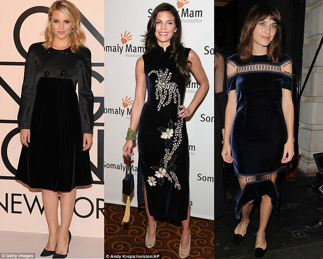 velvet-dresses, velvet trend, autumn-winter trend, velvet trend for autumn-winter, latest AW13 trends