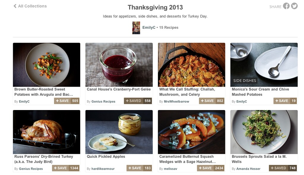 Thanksgiving Collections on Food52
