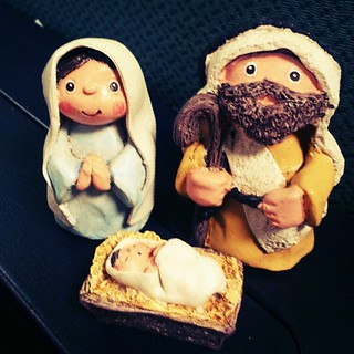 Some #Christmas #decoration for my otherwise dull cubicle. #belen #nativity #igersmanila #papemelroti @papemelroti #ifttt