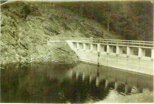 The lake side of the dam in 1938