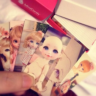 New mini Moo cards, perfect as always ~ #doll #bjd #moo #minimoo #cards #ateliermomoni