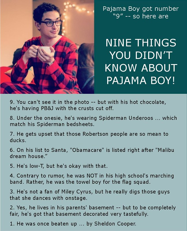 Nine things you didn't know about Pajama Boy!