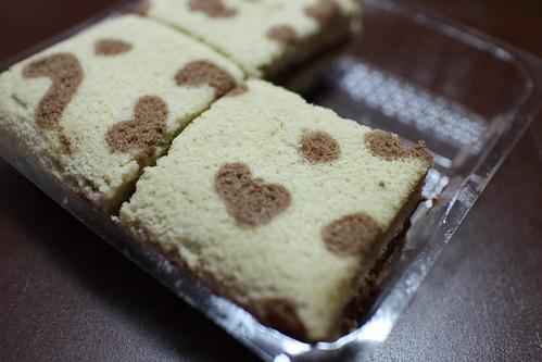 cake。全家便利商店的豹紋咖啡巧克力蛋糕