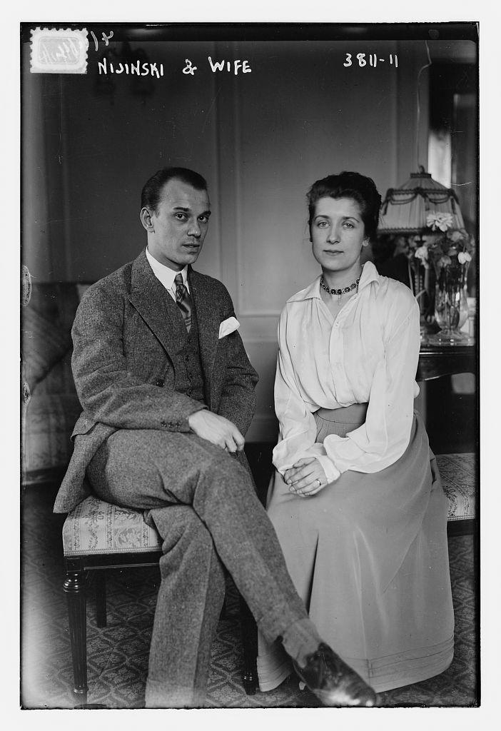 Nijinski and wife (LOC)
