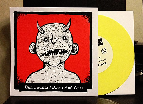 "Dan Padilla / Down And Outs - Split 7"" - Yellow Vinyl (/100) by Tim PopKid"