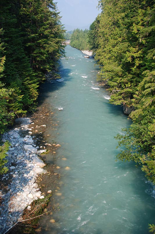 Nusatsum River, Hagensborg, Bella Coola Valley, Coast of Central British Columbia