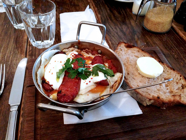 Baked Eggs and Chorizo