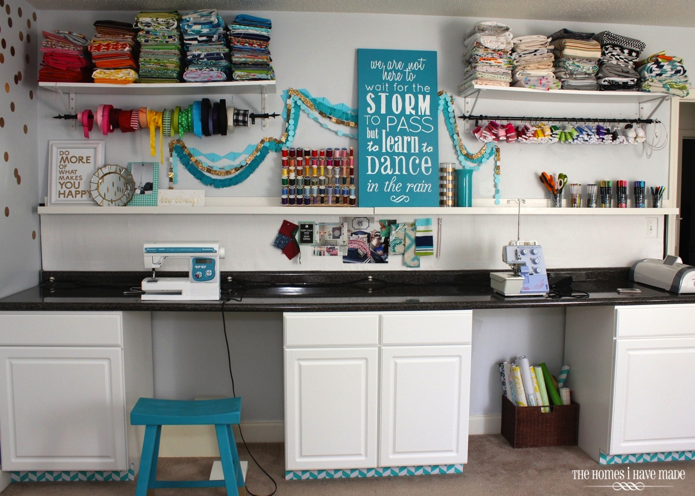Craft rooms on a budget - Craft Room Craft Wall 003