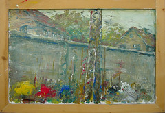 B 11.2 Besen-Malerei: Closed, railway - Zugausblick zu