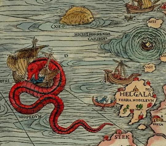 sea serpent from the carta marina