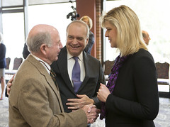 President-elect Davis talks with Trustees