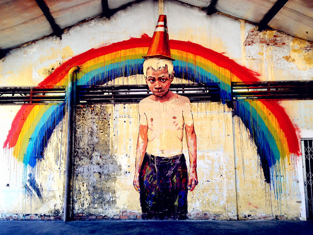 Art is Rubbish / Rubbish is Art by Ernest Zacharevic