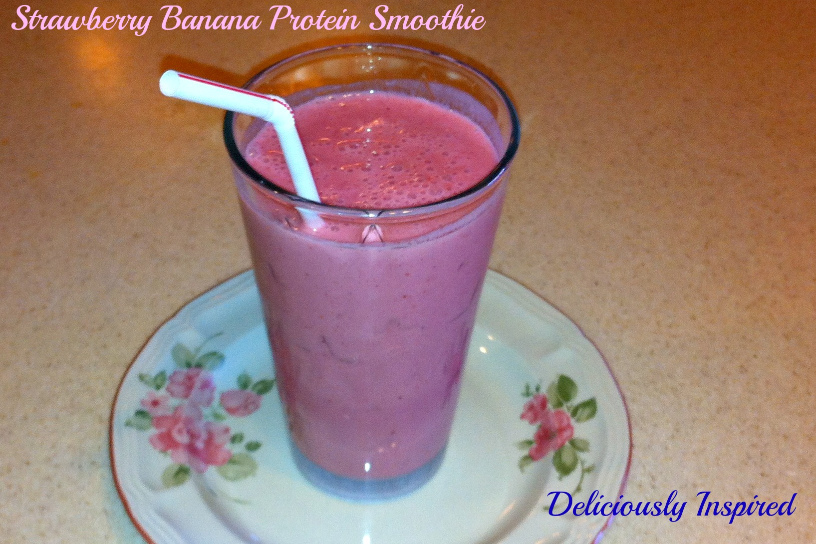 Strawberry Banana Protein Smoothie