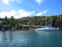 I would like to own this bar in Marigot Bay