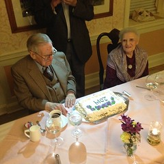 70 years if marriage for my grandparents. 90th bday for grandpa.
