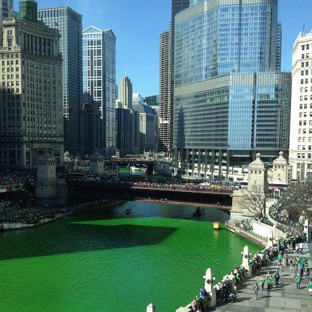 The Green River in Chicago
