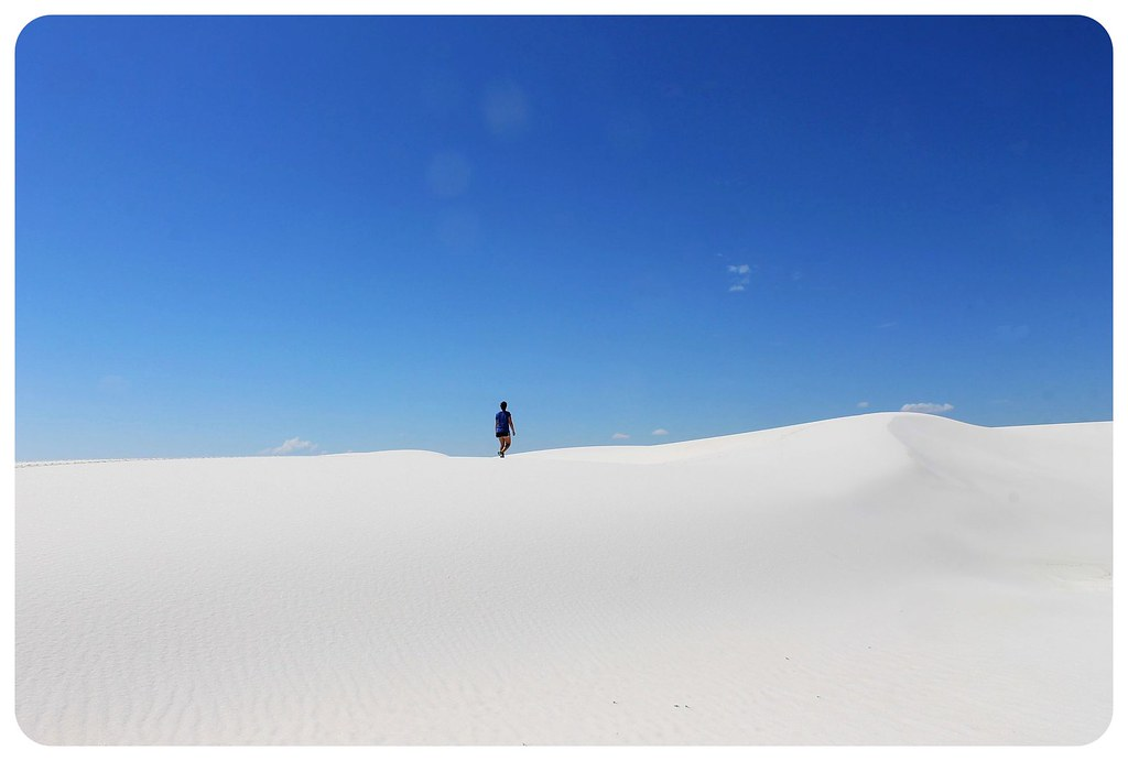 White Sands New Mexico jess hiking