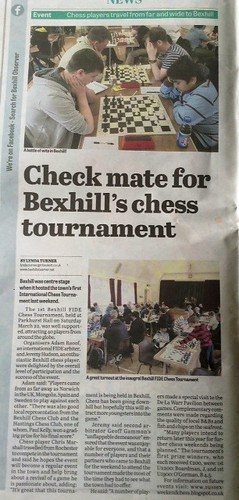 Bexhill Chess in the News