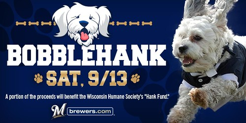 Hank The Dog Brewers Baseball Mascot