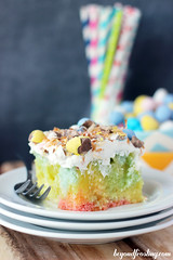 Coconut Lemon Poke Cake