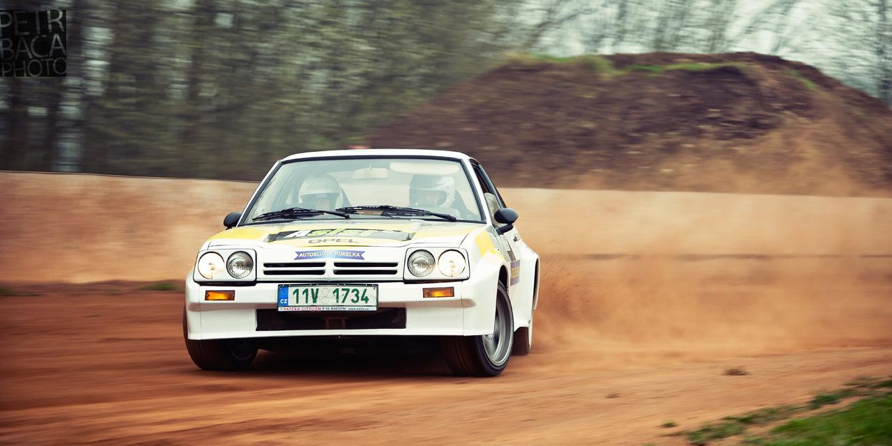 Rallye Praha Revival 2014, RPR, Eda Patera, Chabařovice, plochá dráha, Opel Manta gr.B,