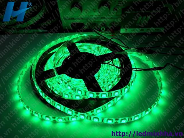 LED Dây Dán 5050 SMD ( 60Led/m ) Mầu Xanh Lá