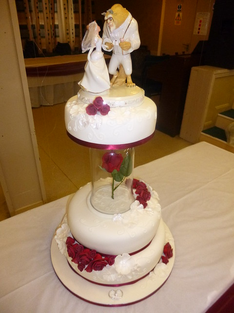 lighted beauty and the beast wedding cake topper and the beast wedding cake explore dawnie s cakes 16858