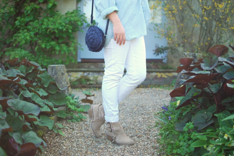 chambray and curls white denim cheap monday jeans