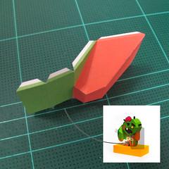 วิธีทำโมเดลกระดาษตุ้กตา คุกกี้ รัน คุกกี้รสซอมบี้ (LINE Cookie Run Zombie Cookie Papercraft Model) 016