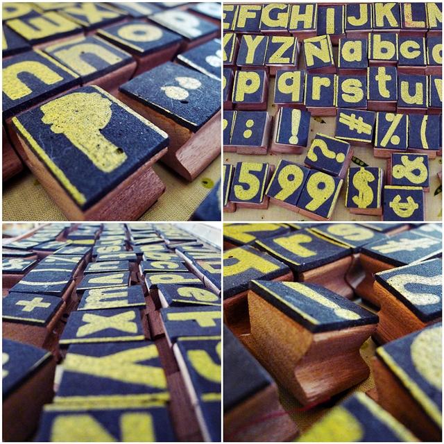 stamp alphabet-
