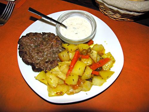 Karakorum with Afghan fries and yoghurt