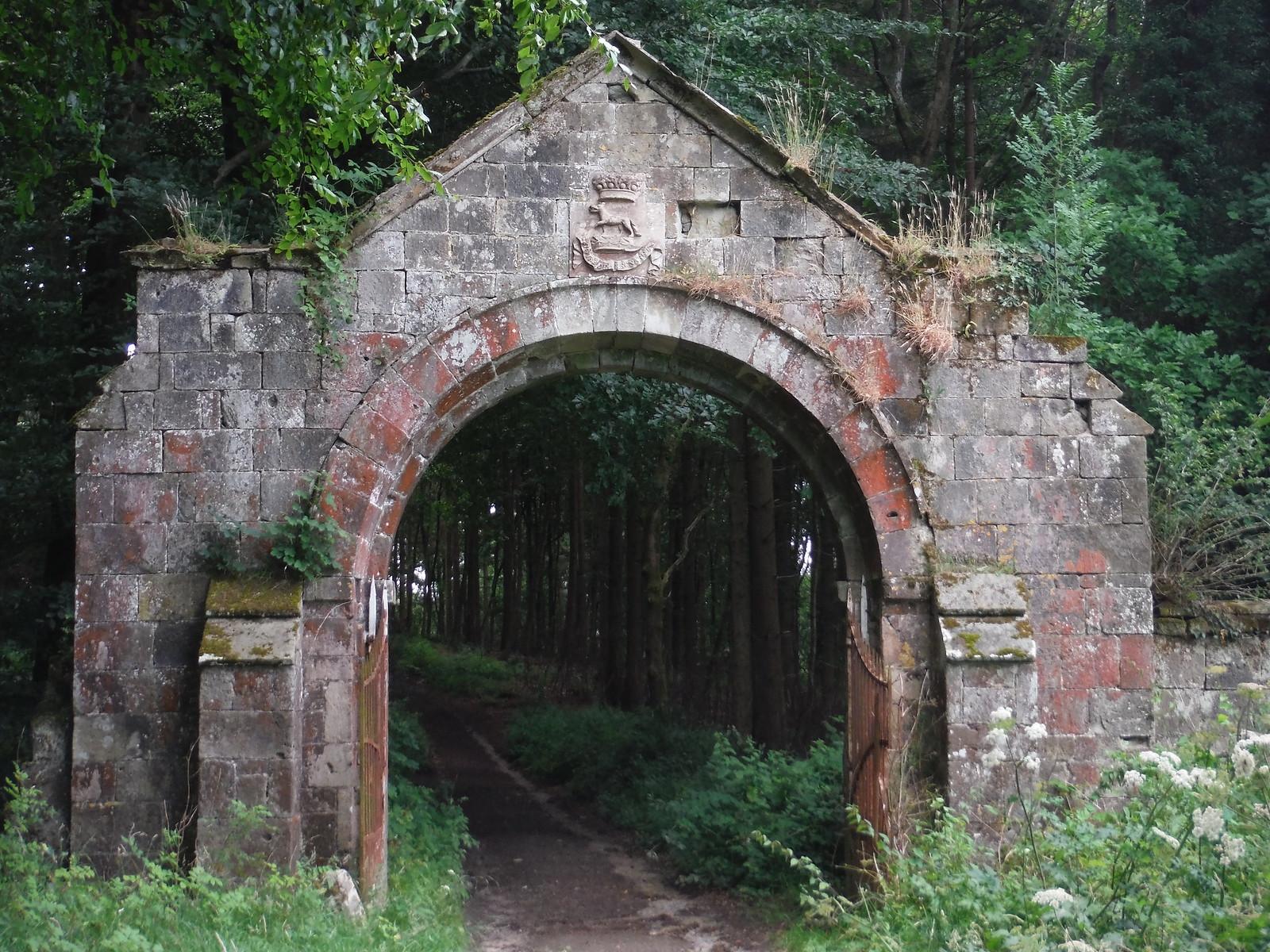 Early 19th C. ornamental arch gateway (Grade II listed) SWC Walk 252 Tisbury Circular via Donhead St. Andrew