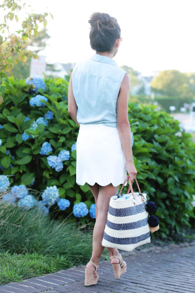 topshop scallop hem miniskirt2