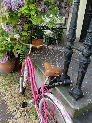 A Pink Bike in Amsterdam, Holland