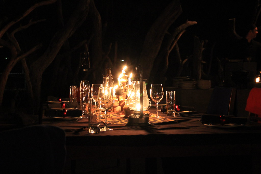 Lanterns and candelight in the BOMA
