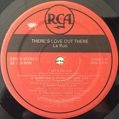 LA RUE:THERE'S LOVE OUT THERE(LABEL SIDE-B)