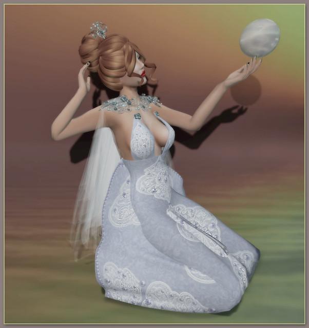 Photo:Enchantment (Cinderella) - [MUSE] (Cinderella Hair Updo & Enchantress Bridal Gown - Silver) - Le Poppycock (Dream a Little) By Tigist Sapphire