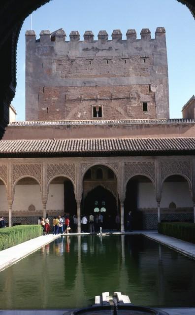 Moorish palace Alhambra Granada Andalucia Spain
