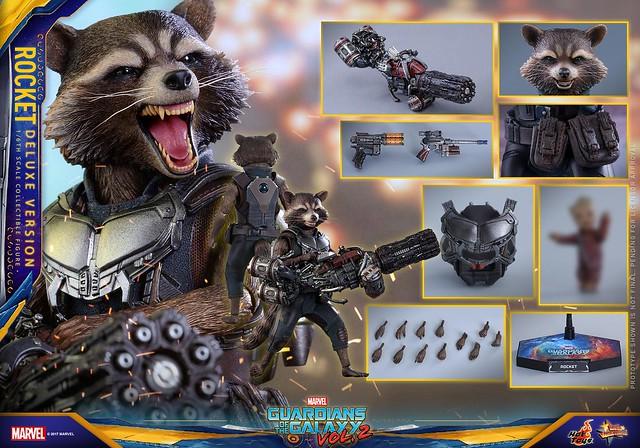 爆走重裝登場!!Hot Toys – MMS411 – 星際異攻隊2【火箭浣熊豪華版】Rocket Deluxe Ver. 1/6 比例人偶作品