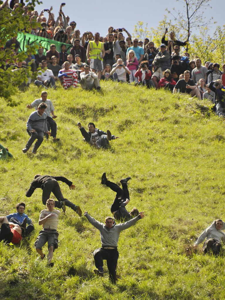 Cheese Rolling 2013, Coopers Hill, Gloucestershire.