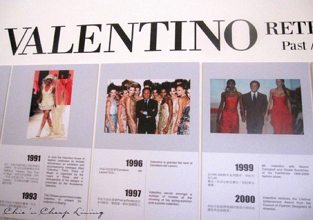 Valentino Chronology at Valentino Retrospective - by Chic n Cheap Living