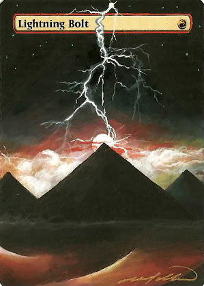 Lightning Bolt Altered Art Magic the Gathering Card Art MTG Art Instant Spell