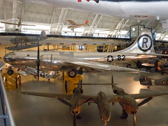 tourist attraction(0.0), screenshot(0.0), scale model(0.0), boeing b-17 flying fortress(0.0), aircraft engine(0.0), aerospace engineering(1.0), aviation(1.0), airplane(1.0), propeller driven aircraft(1.0), vehicle(1.0), fighter aircraft(1.0), bomber(1.0), air force(1.0),