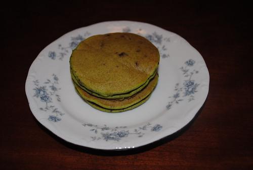 mint chocolate chip pancake