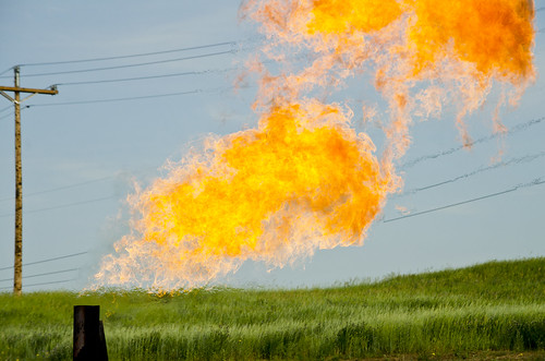 Orvis State natural gas flare - Evanson Place - Arnegard North Dakota