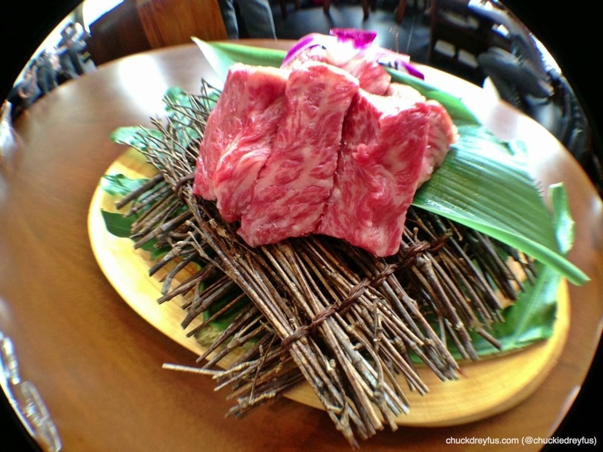 Lava Stone Japanese Wagyu Sirloin Steak