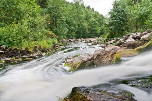 tree nature water forest finland river landscape rocks rapids canoneos400d neutraldensitydilter